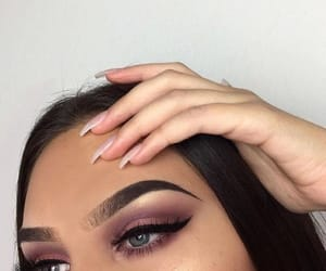 makeup, nails, and fashion image