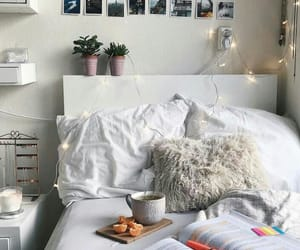 bed, home, and decor image