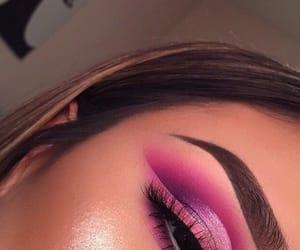makeup, pink, and eyeliner image
