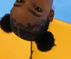 yellow, hair, and melanin image