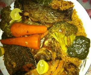 fish, riz, and vegetables image