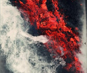 red, lava, and photography image