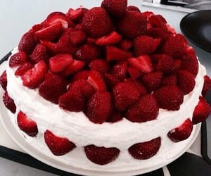 cake, strawberries, and food inspo image