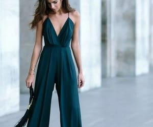 fashion, jumpsuit, and green image