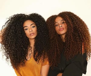 black, haïr, and curly image