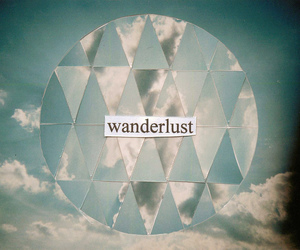 wanderlust, sky, and clouds image
