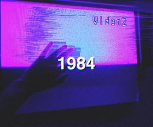 aesthetic, purple, and 1984 image