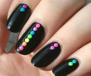 black, colors, and nails image