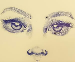 drawing, eyes drawing, and pen drawing image