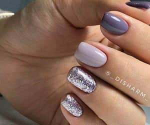glitter, hands, and nails image