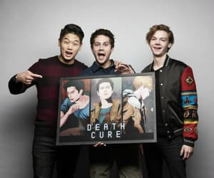 dylan o'brien, ki hong lee, and maze runner image