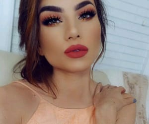 makeup, sombras, and labial image