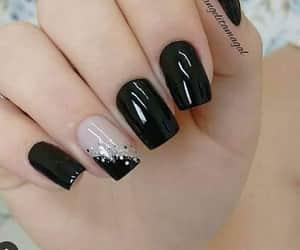 black, nails, and girls image