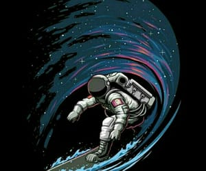 astronaut, background, and colorful image