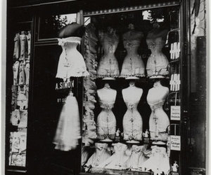 black and white, corset, and store image