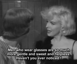 Marilyn Monroe, glasses, and quote image
