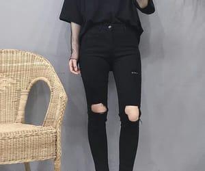 black, fashion, and asian image