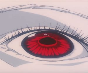 anime, evangelion, and red eyes image