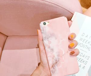 pink, iphone, and marble image