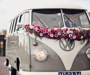 combi, rosas, and volkswagen image