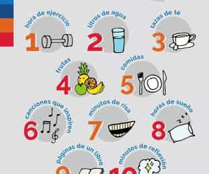 agua, fitness, and frutas image