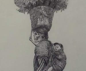 arte, calavera, and dibujo image