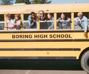 yellow, school, and high school image