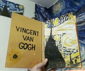 art, starry night, and van gogh image