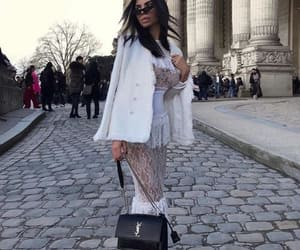 beautiful brunette, fashion week, and glamour image