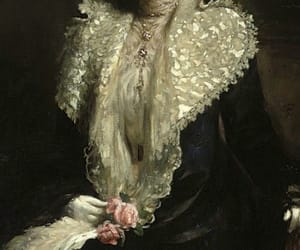 oil, painting, and portrait of a lady image