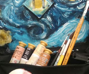 art, gogh, and oil image