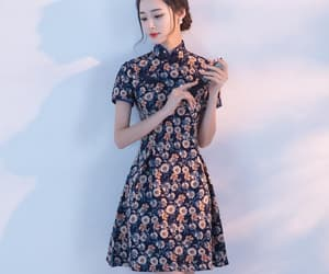 asian, chinese, and dress image