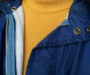 blue, outfit, and yellow image