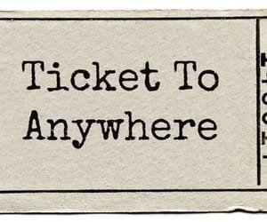 ticket, anywhere, and travel image