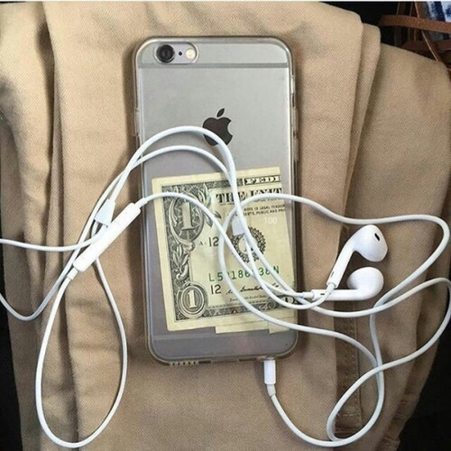 iphone, money, and beige image