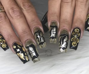 black and gold, claws, and cyber image