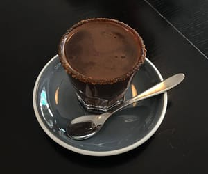 chocolate, dark, and drink image