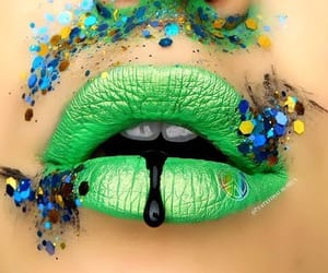 labios, make up, and verde image