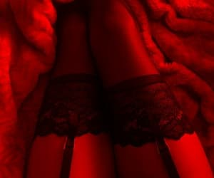 red, sexy, and lingerie image