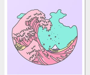 pink, overlay, and waves image