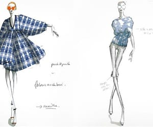 checked, fashion, and sketch image