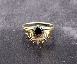 black, ring, and gold image