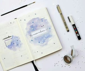bullet journal, blue, and bujo image