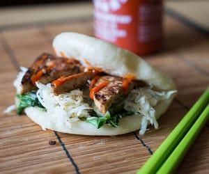 burger, tofu, and salsa image