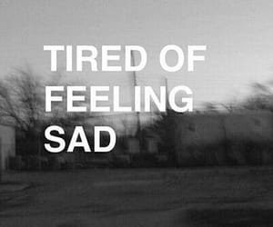 alone, gif, and tired image
