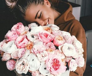 flowers, girls, and pink image