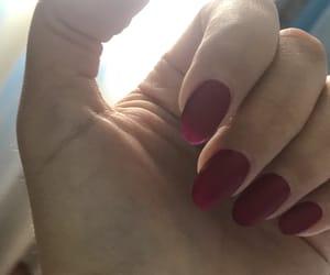 matte, nails, and almondshape image