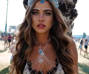 coachella, girl, and makeup image