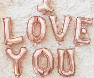 balloons, valentine, and rose gold image