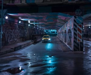 neon, taxi, and underground image
